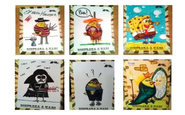 Algunos de los dibujos realizados por clientes del K2